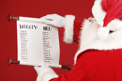 Santa Nice List | New Calendar Template Site